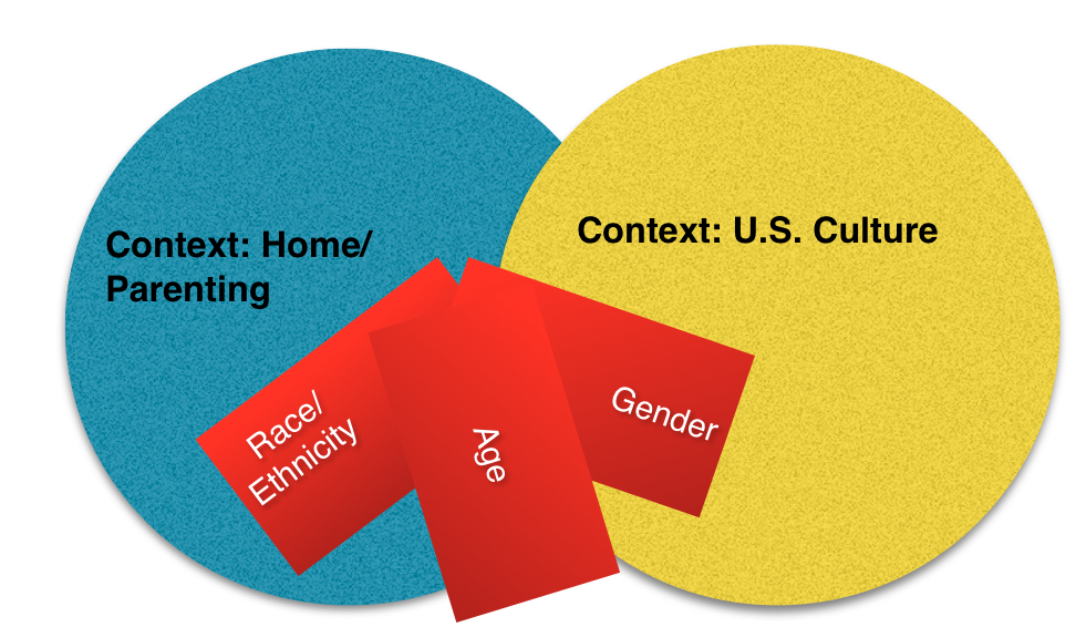 Race & ethnicity, age, and gender intersect with family culture and 			 U.S. culture.